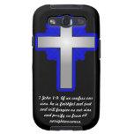 1 John 1:9 with Cross Samsung Galaxy S Cases Galaxy S3 Case