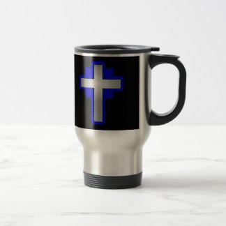 1 John 1:9 with Cross Travel Coffee Mug