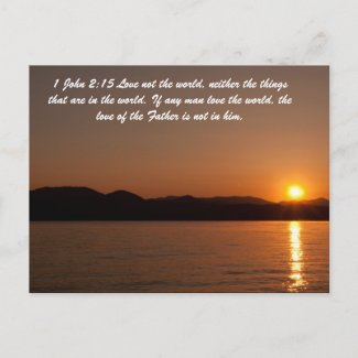 1 John 2:15 Love not the world, neither the things