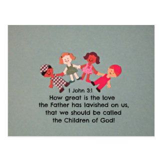 1 John 3:1 How great is the love... Postcard