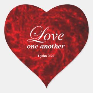 1 John 3:23 Heart Sticker