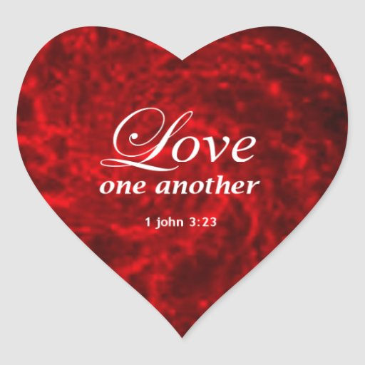 1 John 3:23 Heart Sticker