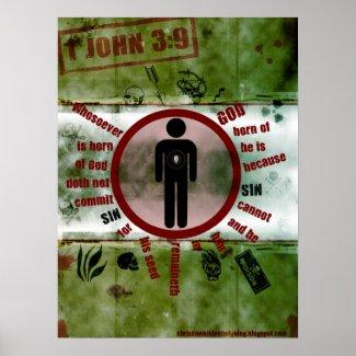 1 John 3:9 Posters