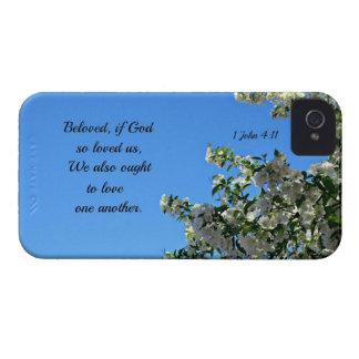 1 John 4:11 Beloved, if God so loved us... iPhone 4 Case-Mate Case