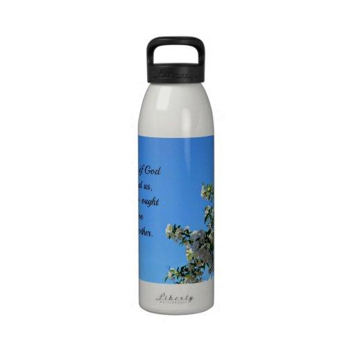 1 John 4:11 Beloved, if God so loved us... Water Bottles