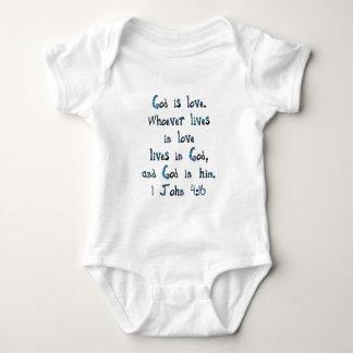 1 John 4:16 Baby Bodysuit