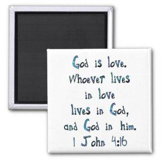 1 John 4:16 Magnet