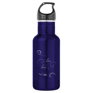 1 John 4:18 - Choose you own color. Customizable Water Bottle
