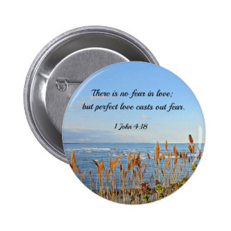 1 John 4:18 There is no fear in love; but perfect Pinback Buttons