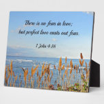 1 John 4:18 There is no fear in love; but perfect Plaque