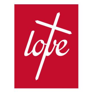 1 John 4:19 - Love Cross Postcard