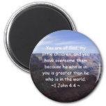 1 John 4:4 2 Inch Round Magnet