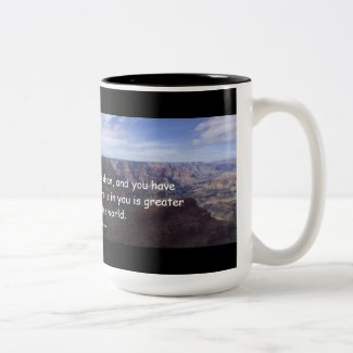 1 John 4:4 Coffee Mug