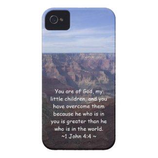 1 John 4:4 iPhone 4 Case-Mate Case