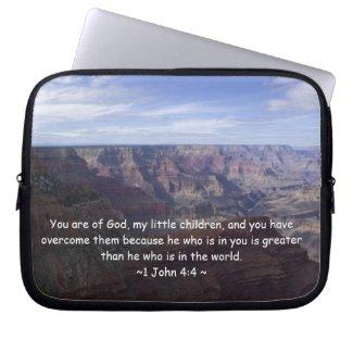 1 John 4:4 Laptop Sleeves