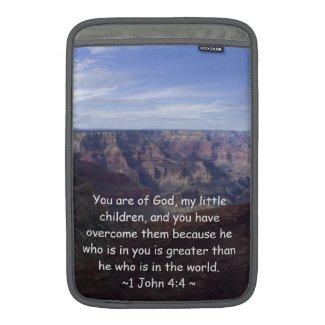 1 John 4:4 MacBook Air Sleeves
