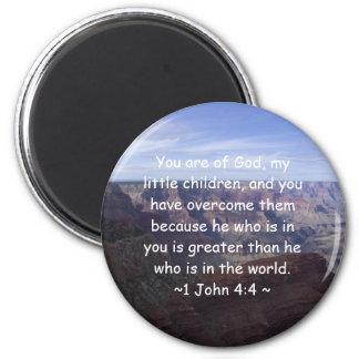 1 John 4:4 Magnet