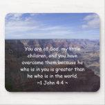 1 John 4:4 Mouse Pad