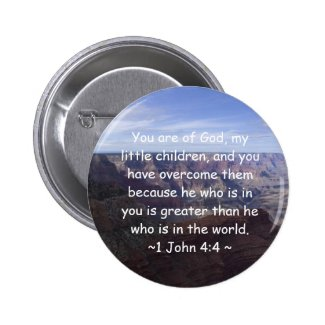 1 John 4:4 Pinback Button
