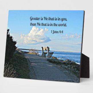 1 John 4:4 Plaque