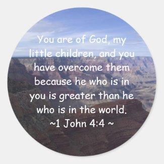 1 John 4:4 Stickers