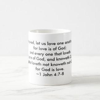 1 John 4:7-8 - Love one another Mug