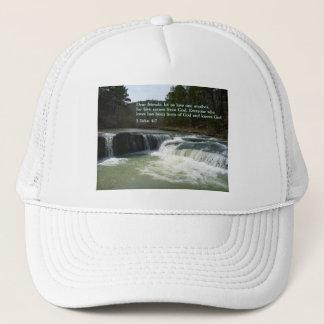 1 John 4:7  Waterfall Trucker Hat