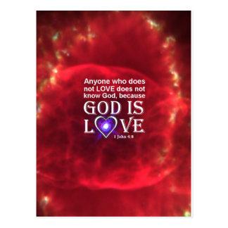 1 John 4:8 Postcard