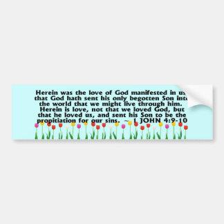 1 John 4:9-10 Bumper Sticker