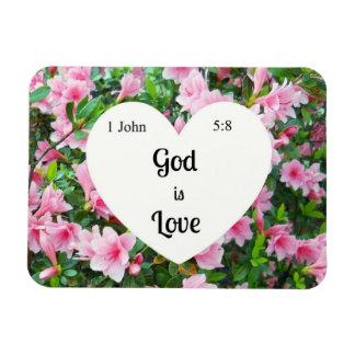 1 John 5:8 God is Love. Magnet