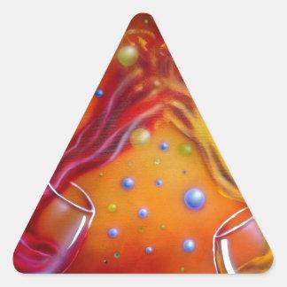 1.jpg rojo o blanco calcomania triangulo personalizadas