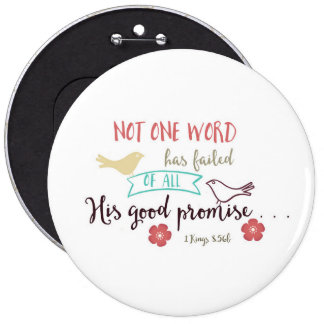 1 Kings 8:56b Not 1 Word Failed of His Promise Button