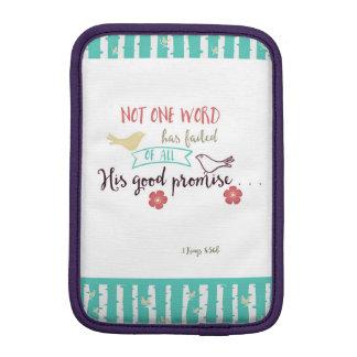 1 Kings 8:56b Not 1 Word Failed of His Promise iPad Mini Sleeve