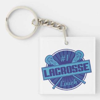 #1 Lacrosse Coach (blue) Keychain