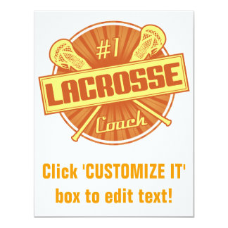 #1 Lacrosse Coach (orange) Card