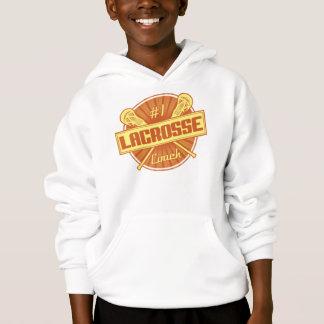 #1 Lacrosse Coach (orange) Hoodie