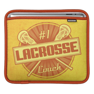 #1 Lacrosse Coach (orange) iPad Sleeve