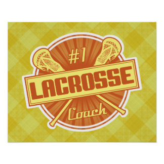 #1 Lacrosse Coach (orange) Poster Print