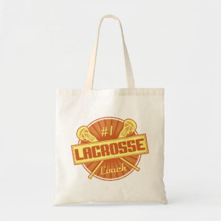 #1 Lacrosse Coach (orange) Tote Bag