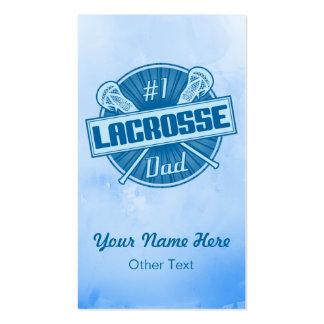 #1 Lacrosse Dad Customizable Business Cards