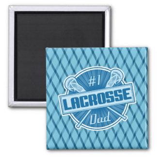 #1 Lacrosse Dad Fridge Magnet