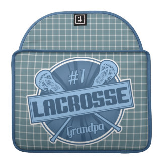 #1 Lacrosse Grandpa Macbook Sleeve