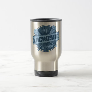 #1 Lacrosse Grandpa Travel Mug