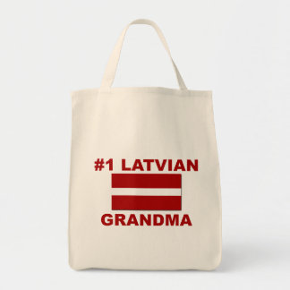 #1 Latvian Grandma Canvas Bags