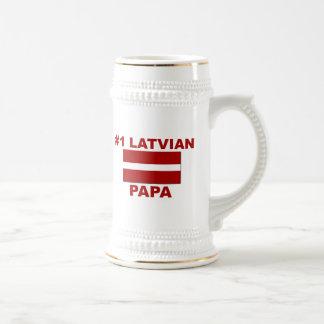 #1 Latvian Papa Beer Stein