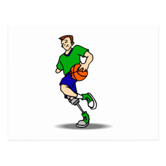 1 legged player postcard