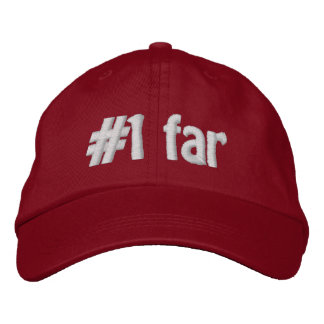 #1 lejos gorra de béisbol