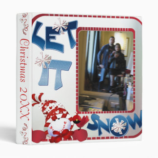 "1"" Let it Snow Photo Album Binder"