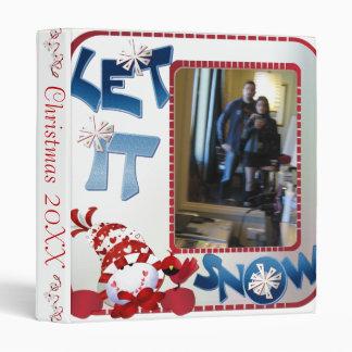 "1"" Let it Snow Photo Album 3 Ring Binders"