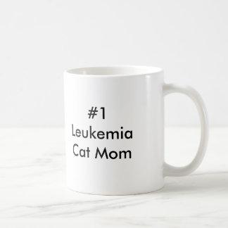 #1 Leukemia Cat Mom Coffee Mug